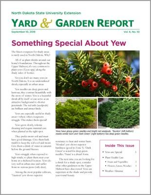 NDSU Yard & Garden Report for September 10, 2018
