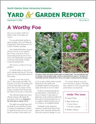 NDSU Yard & Garden Report for September 17, 2018