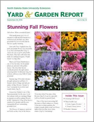 NDSU Yard & Garden Report for September 24, 2018