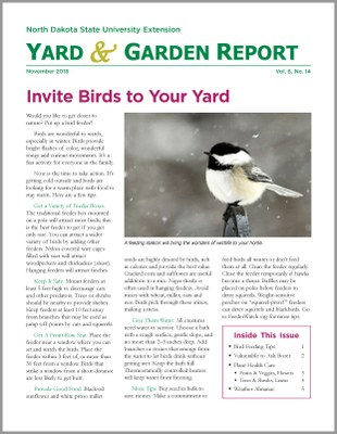 NDSU Yard & Garden Report for November 2018