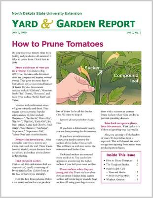 NDSU Yard & Garden Report for July 9, 2019