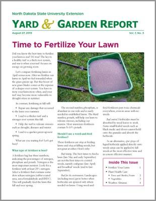 NDSU Yard & Garden Report for August 27, 2019