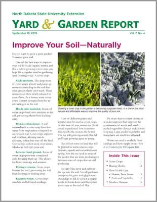 NDSU Yard & Garden Report for September 10, 2019