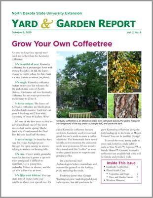 NDSU Yard & Garden Report for October 8, 2019