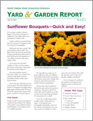 News for gardeners in North Dakota