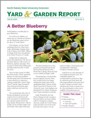 NDSU Yard & Garden Report for July 20, 2020