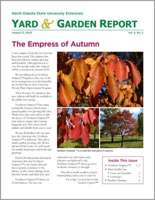 NDSU Yard & Garden Report for August 12, 2012