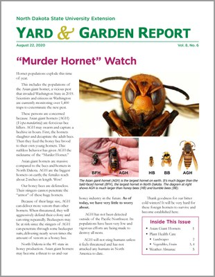NDSU Yard & Garden Report for August 22, 2020