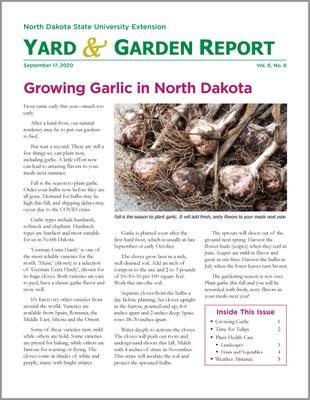 NDSU Yard & Garden Report for September 17, 2020