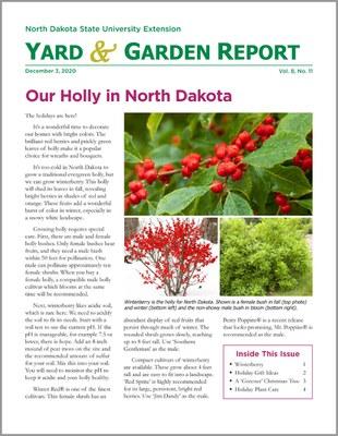 NDSU Yard & Garden Report for December 3, 2020
