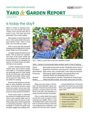 NDSU Yard & Garden Report for June 8, 2015