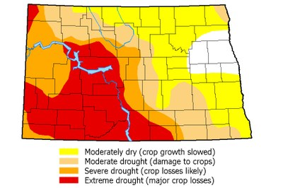 Drought map July 4, 2017