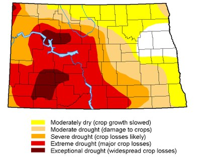 Drought map July 18, 2017